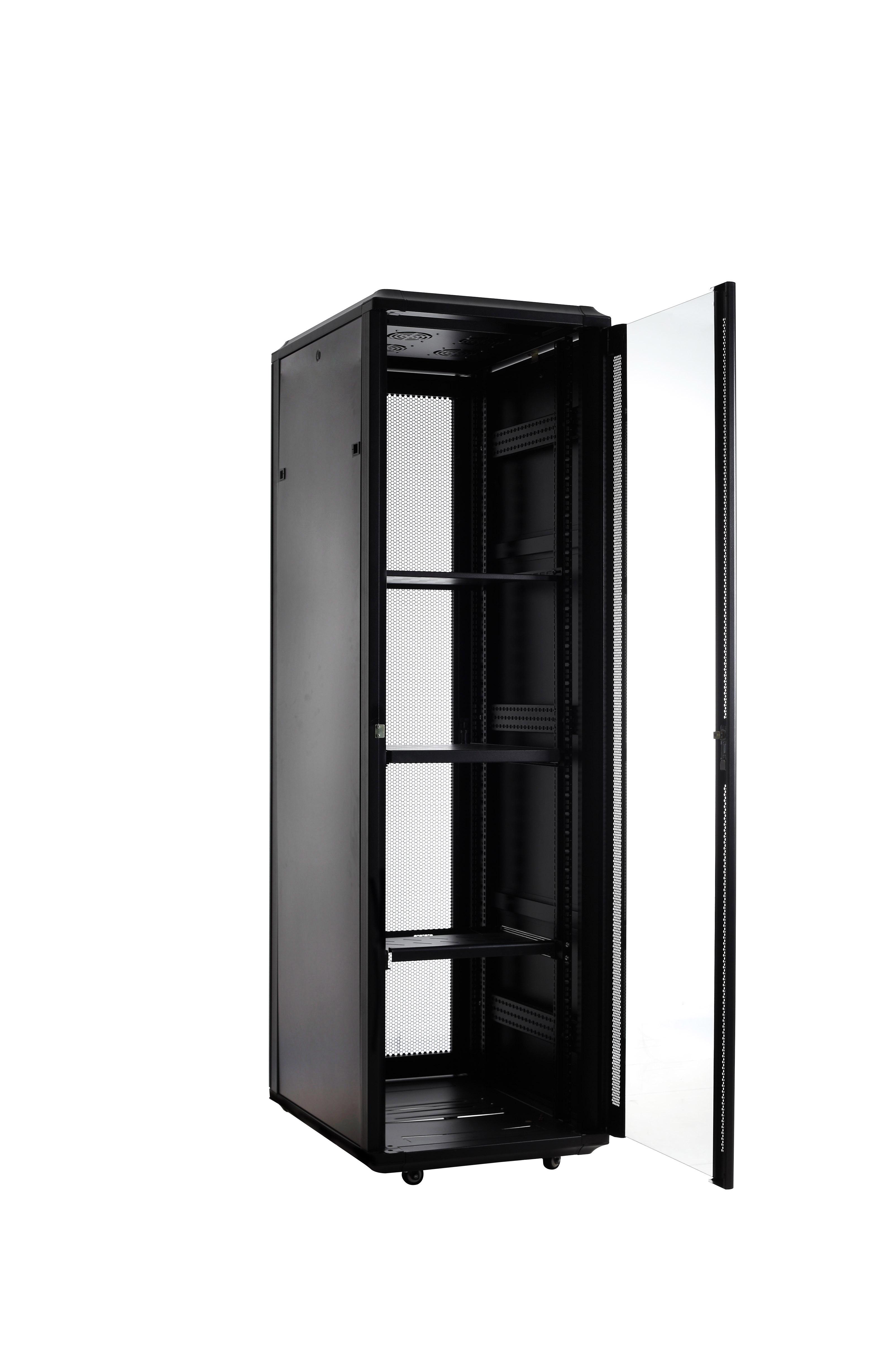 Floor/Standing Network Cabinets 19'' 600mm/800mm/1000mm depth 18U - 47U Glass Door