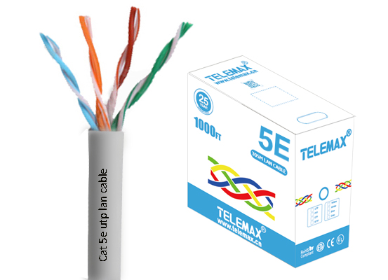 Cat5e lan cable UTP 24AWG BC 0.511mm PVC Jacket Fluke test