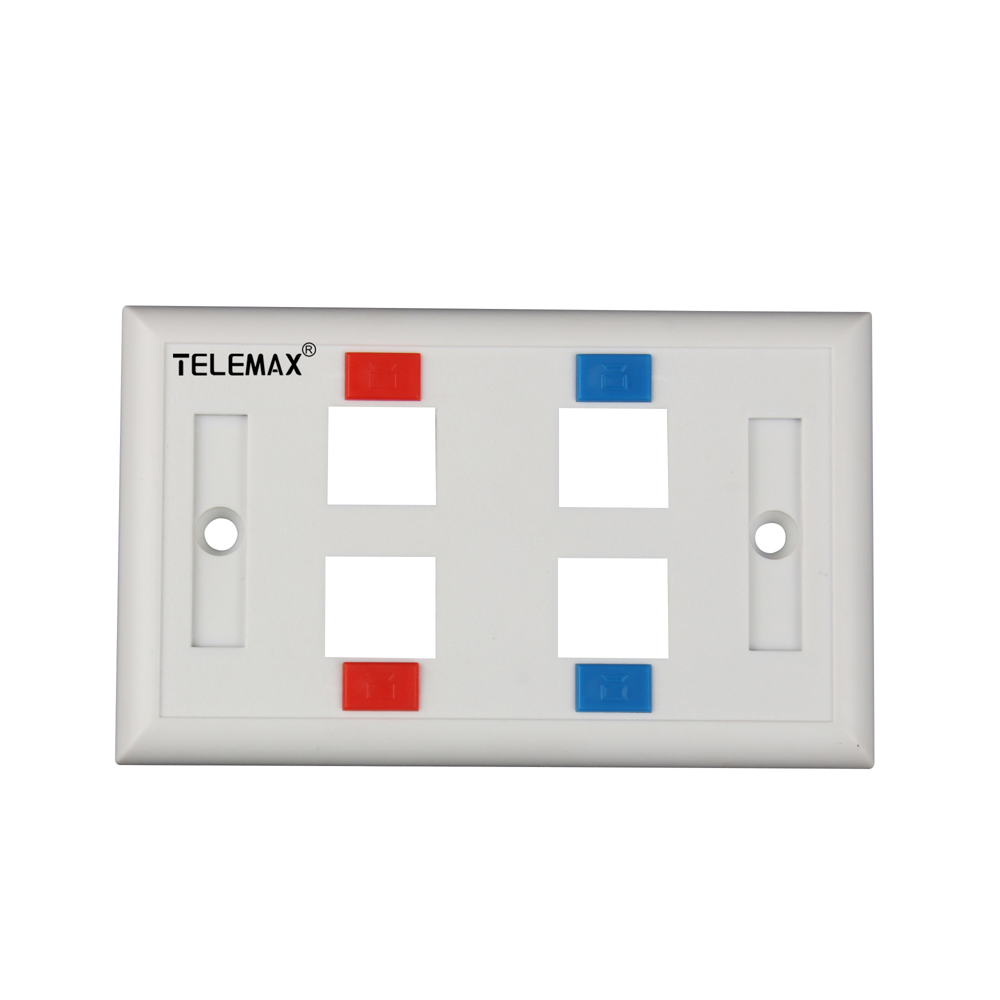 120 Type ( American Type) Faceplate 4 Ports ABS UL94V-0
