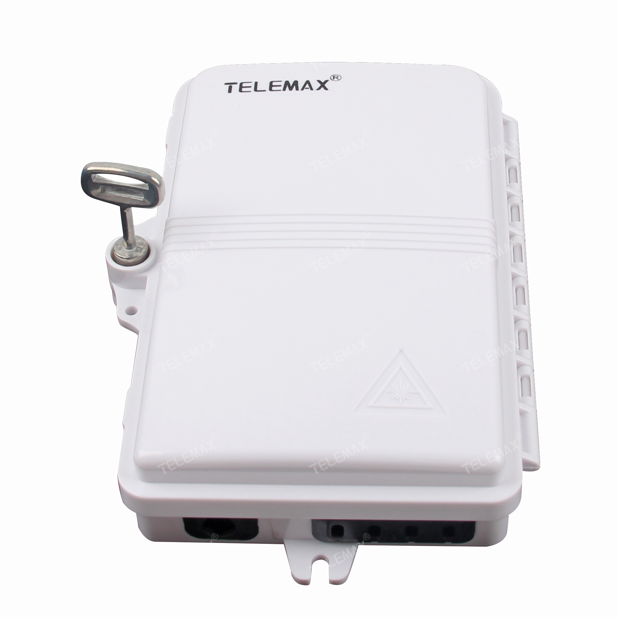 IP65 4F FTTH BOX ABS Material, Support 4 SC Simplex or 4 LC Duplex.