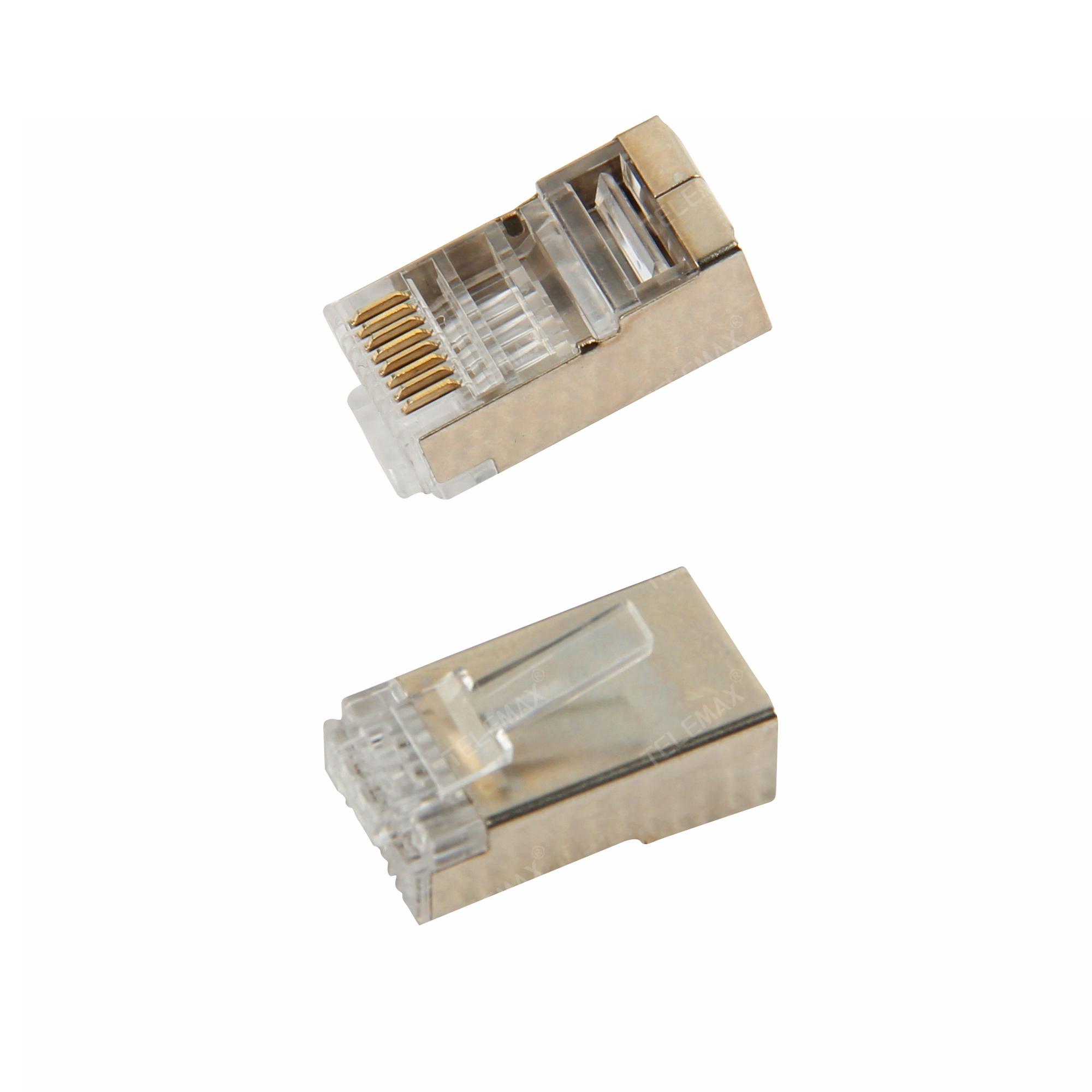 CAT6 FTP RJ45 Plug 8P8C, Golden plating 3/15/30/50u''