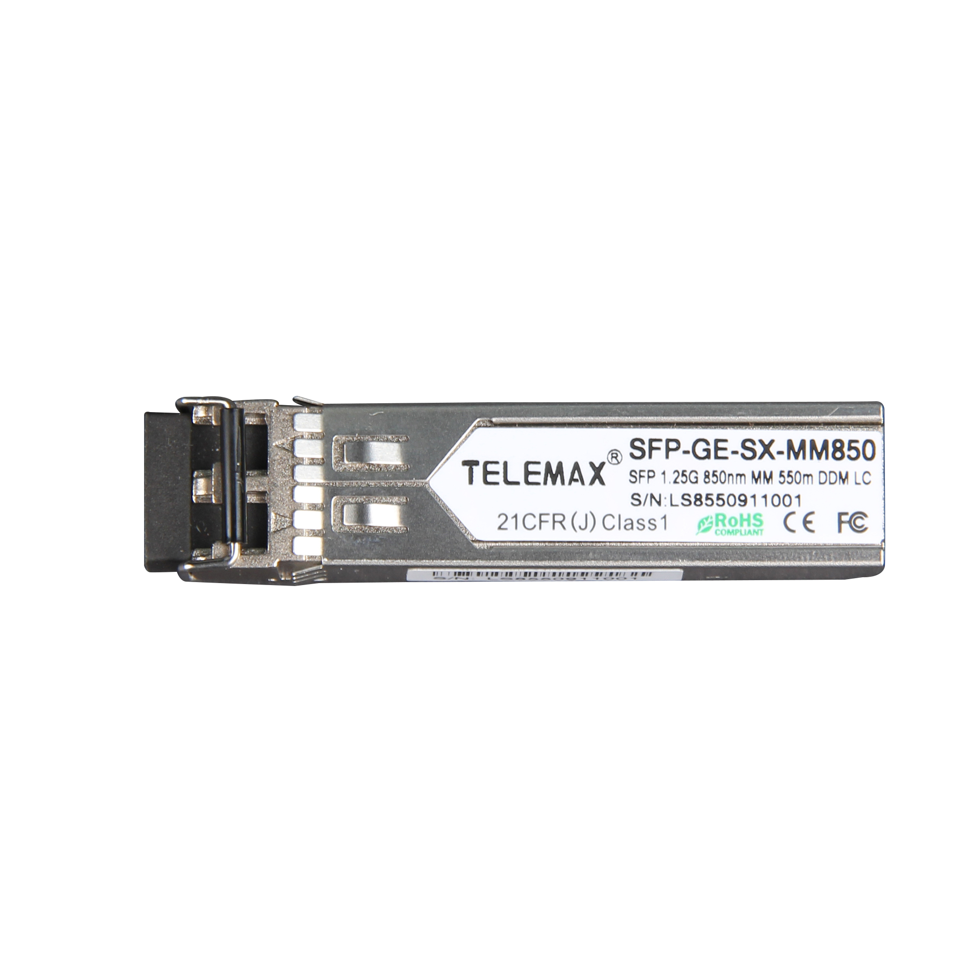 SFP 1.25G 850nm MM 550 DDM LC