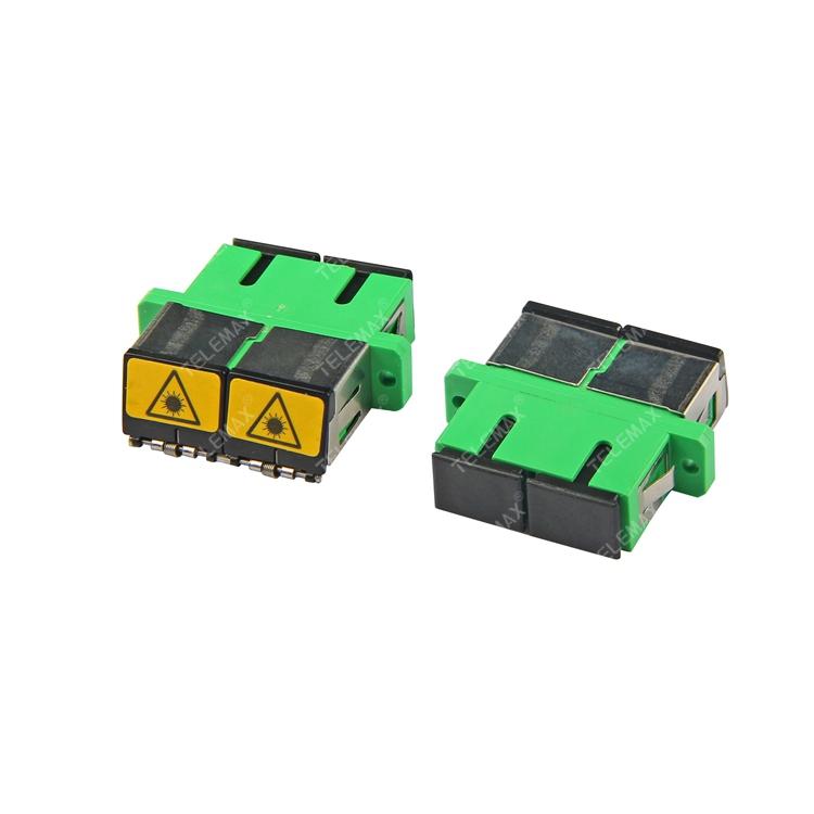 Optical Fiber Adapter SC/APC SM Duplex with Metal Metal dust shutter