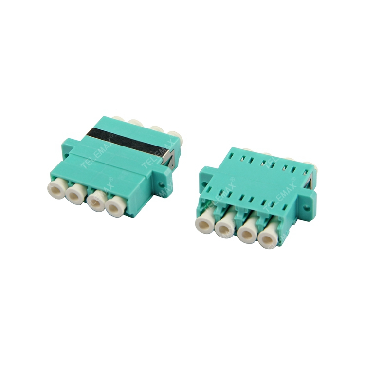 Optical Fiber Adapter LC/PC Multi Mode 50/125 OM3 Quad
