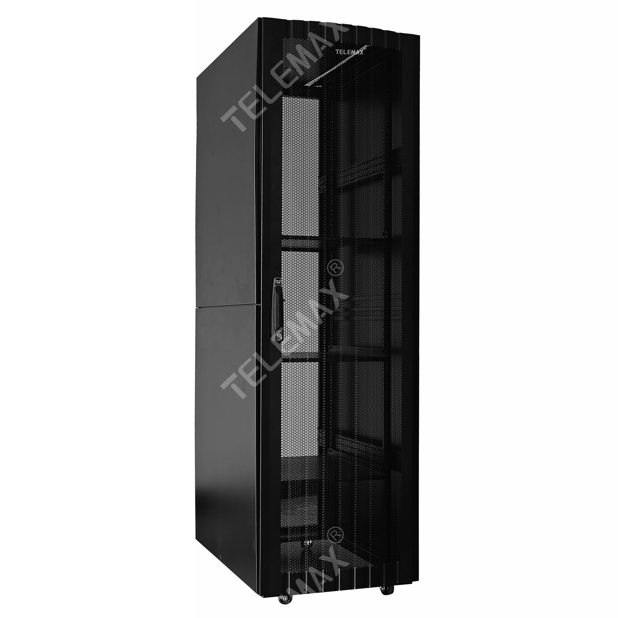 Floor/Standing Network Cabinets 19'' 600mm/800mm/1000mm depth 18U - 47U hexagonal Mesh Door