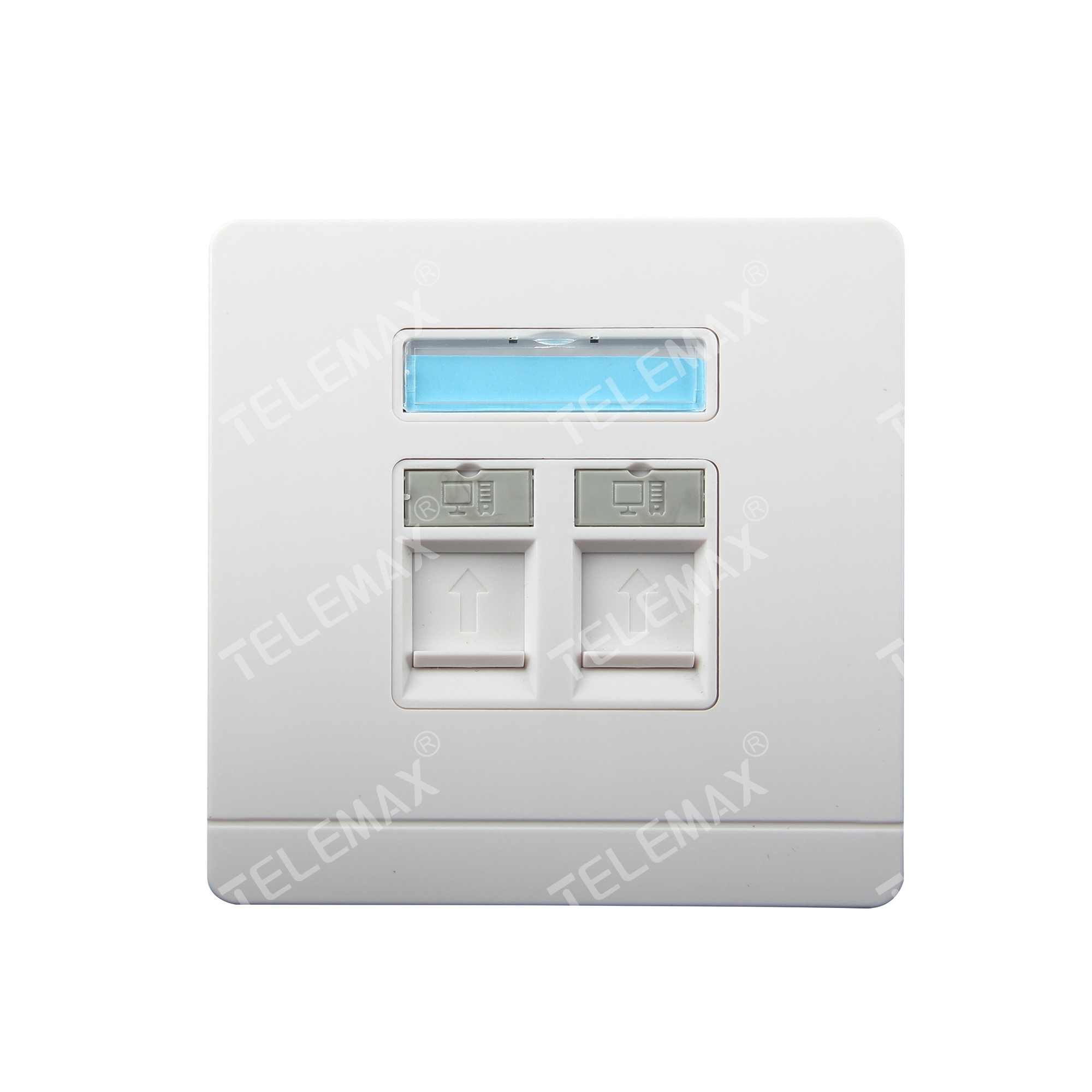 86*86mm Faceplate 2 Ports ABS UL94V-0